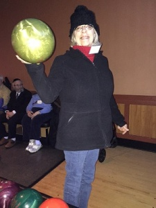 faye on bowling outing